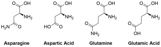 Acid and amide structures